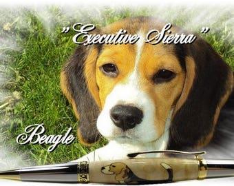 "The range ""Executive Sierra"" wood ball point pen"