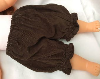 Chocolate velvet bloomers doll clothes doll 36 cm