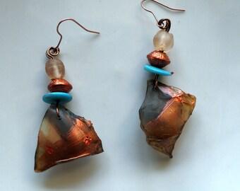 "Earrings boho Chic earrings, ethnic earrings, earrings turquoise, ""Passion"", gift idea"
