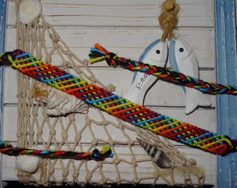 "Friendship Bracelet ""simple Rainbow"" and thin"