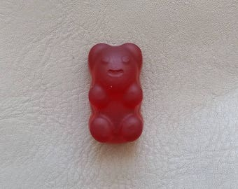 "Magnets candy bear resin red ""Les treats"""