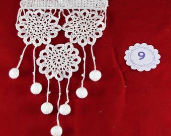 Lace crochet curtain