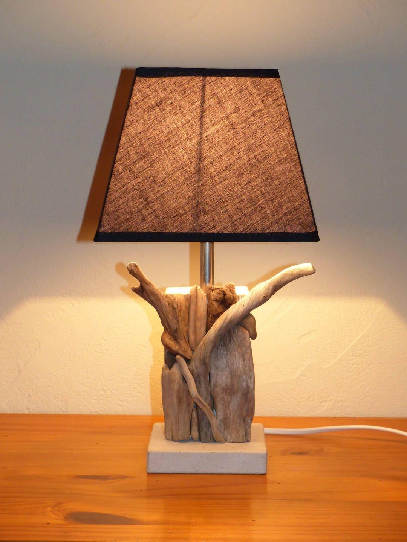 lampe de chevet bois flott et palette toute naturelle gris. Black Bedroom Furniture Sets. Home Design Ideas