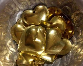 1 gold tone heart charm