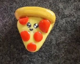 Polymer clay Pizza magnet