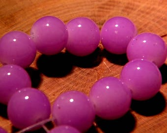 "10 beads - 10 mm - way ""jade"" - Purple - PF139-7"