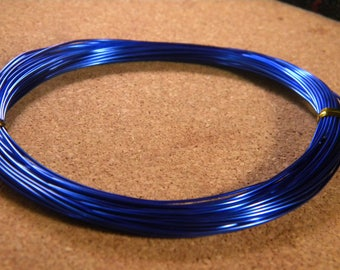 20 meters of thread of aluminum in 0.8 mm - royal blue - metal - wire - wire BG aluminum wire