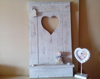 Shelf part wooden * shabby chic *.