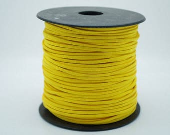 2 meters of sunny yellow suede width 3 mm thickness 1.5 mm