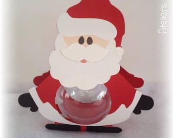 Christmas Santa Christmas 13 cm + ball transparent 6cm