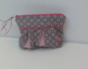 Bag, clutch bag with flowers