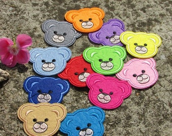 X 12 patches embroidered patch bears FUSIBLE applique