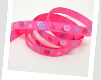1 meter of Ribbon 9mm - pink & blue pacifier
