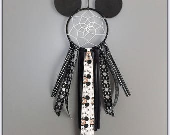 dream catcher boy, mouse, mouse, black and silver