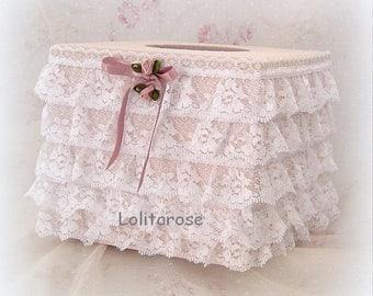 Box tissue or cotton romantic shabby