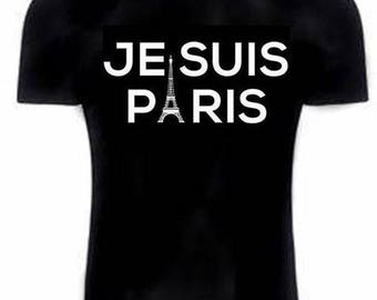 Black text T-shirt I'm paris