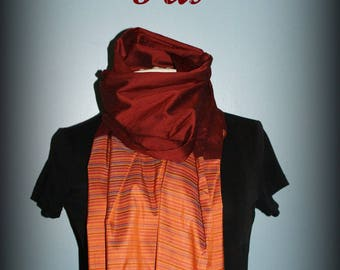 Scarf shawl scarf cheich Red Silk