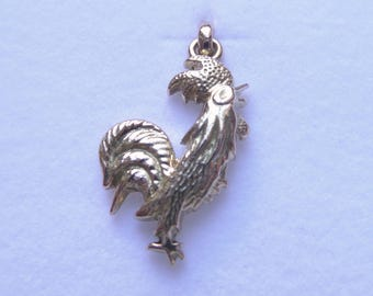 Pendant yellow gold French Rooster animal