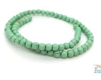 70 beads 6mm Mint green Howlite (ph220)