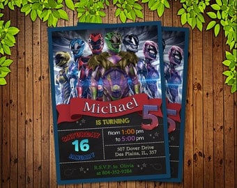 Power Ranger Invitation, Power Ranger Birthday, Power Ranger Party, Power Ranger Birthday Invitation, Power Ranger Birthday Party