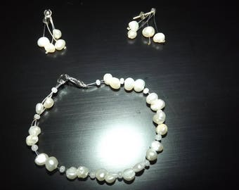 SET bracelet, earrings and hair barrette, ideal marriage