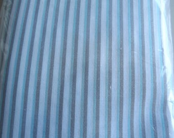 COTTON AND BLUE STRIPE GRAY AND WHITE