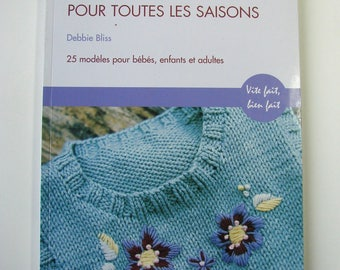 """For all seasons cotton knit"" book of Debbie Bliss Manise Editions."