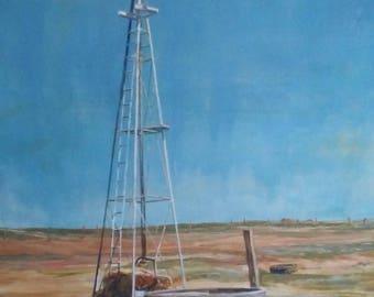 Original Ken Cruise. 1981 wind mill painting