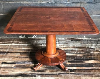 Antique Mahogany Pembroke Drop Flap Pedestal Table