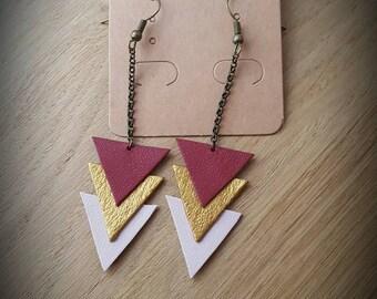 Trio of triangle earrings