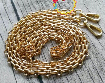 1 piece 120cm chain mesh bag with gold plated lobster clasp 12mm