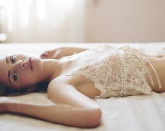 Soft Cup Lace Lingerie Set / Pajamas Set