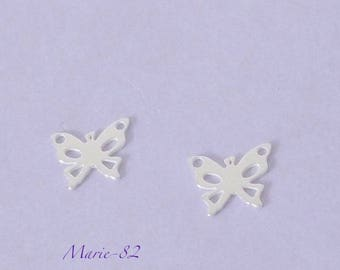 1 Butterfly / Mini charm 10 mm - sterling silver