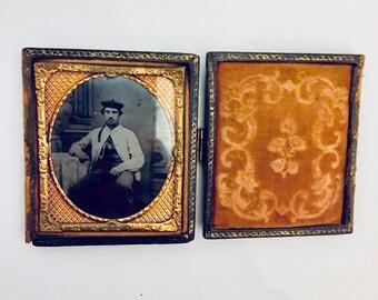 Antique Daguerreotype and Frame.
