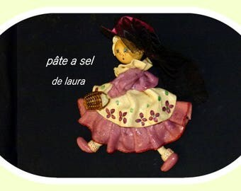 a large Doll has the old in salt dough