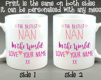 The Bestest Nan in the World Personalised Mug Mother's Day Gift