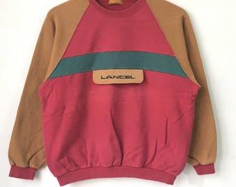 Vintage LANCEL Paris Sweatshirt Multiblock Color