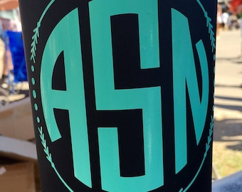 Monogram Cup Decal