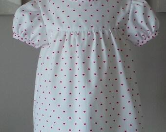 blouse white cotton pique heart 12 month