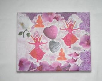 Decorative canvas Indian dance