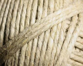 2 meters - 3.5 mm - 4 mm white hemp twine cord - 4558550083791