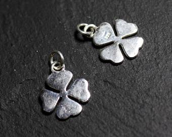 1pc - charm pendant Silver 925 clover 4 leaf 16mm - 4558550086655