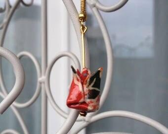 Boucle d'oreille Bouton de fleur de lotus