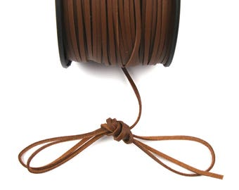 Suede leather Brown 3 mm cord / 1 mm X 1 meter