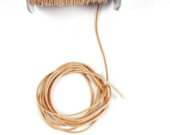 2 meters of faded 1 mm Brown cord