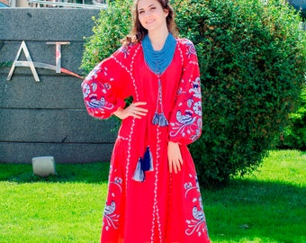 Ukrainian vyshyvanka dress Boho