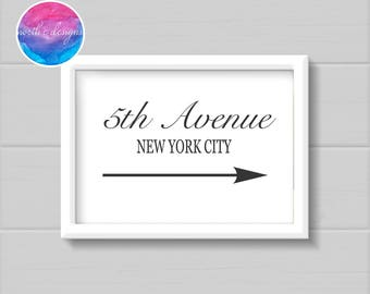 5th Avenue NYC Home Décor Print by North C Designs