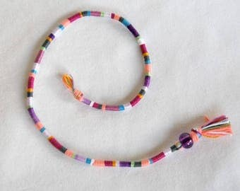 Atébas removable multicolored purple mauve Pink Pearl braided Indian hair hippie hair wrap Brasilda