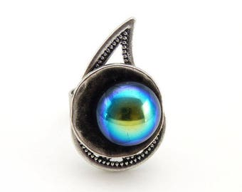 Long cashmere ring
