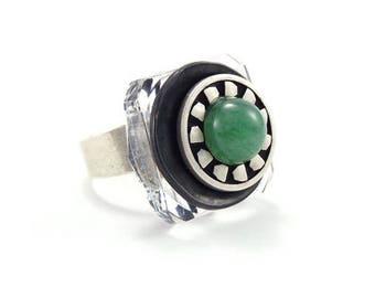Small ring Transaventurine